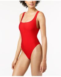Reebok - Ribbed One-piece High-leg Swimsuit - Lyst