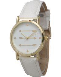 Olivia Pratt - Three Arrows Leather Strap Watch - Lyst