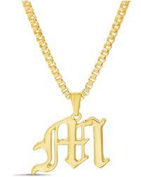 "Catherine Malandrino Gold-tone ""m"" Initial Necklace - Metallic"