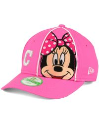 on sale 7d5ee 89f66 KTZ - Cleveland Indians Face Front Minnie 9forty Cap - Lyst