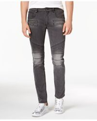 INC International Concepts - Zig Zag Moto Skinny Jeans, Created For Macy's - Lyst