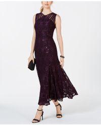 R & M Richards - Long Sequin Gown - Lyst