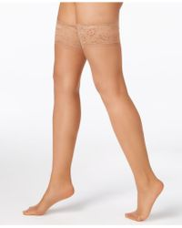 Hanes Silky Sheer Lace Top Thigh Highs Hosiery 0a444 - Multicolour