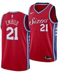 a7494b995 Nike - Joel Embiid Philadelphia 76ers Statement Swingman Jersey - Lyst