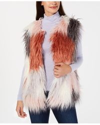 INC International Concepts - I.n.c. Make Me Blush Faux-fur Vest, Created For Macy's - Lyst