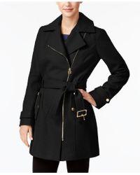 Michael Kors | Petite Asymmetrical Walker Coat | Lyst