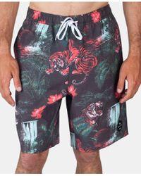 Neff Graphic Board Shorts - Blue