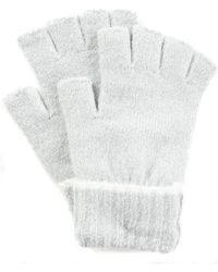 Style & Co. Ribbed Tipped Fingerless Gloves, Created For Macy's - Gray