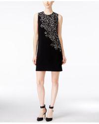 c90046c2 Calvin Klein - Sleeveless Floral Laser-cut Sheath Dress - Lyst