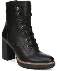 Naturalizer Callie Mid Shaft Lug Sole Boots - Black