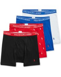 Polo Ralph Lauren 3 +1 Bonus Pk. Cotton Boxer Briefs, Created For Macy's - Multicolor