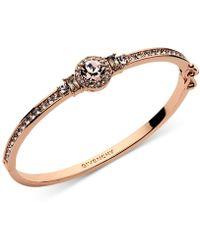 Givenchy - Crystal Blue Stone Hinged Bangle Bracelet - Lyst