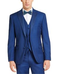 Alfani Slim-fit Stretch Tuxedo Jackets, Created For Macy's - Blue