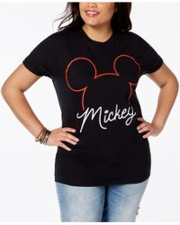 Disney - Plus Size Cotton Mickey Mouse T-shirt - Lyst