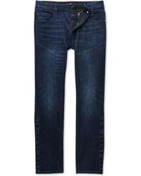 Seven7 Vouvant Adaptive Slim-straight Fit Power Stretch Textured Jeans - Blue