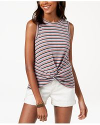 Lucky Brand - Twist-front Tank Top - Lyst