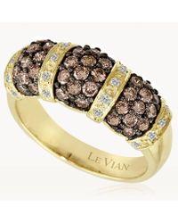 Le Vian - ® Vanilla Diamonds® (1/10 Ct. T.w.) And Chocolate Diamonds® (1 Ct. T.w.) Ring In 14k Gold - Lyst