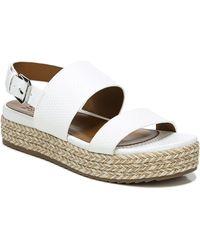 Naturalizer Patience Platform Slingback Sandals - White