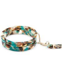 Zenzii Gold-tone/acetate 3-pc. Set Bangle Bracelets - Multicolour