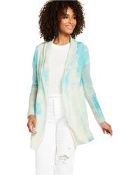 Charter Club Tie-dye Cashmere Cardigan, Created For Macy's - Blue