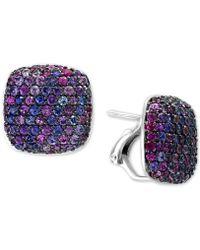 Effy - Splash By Effy® Purple Sapphire Stud Earrings (3-5/8 Ct. T.w.) In Sterling Silver - Lyst