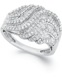 Wrapped in Love - Diamond Twist Ring In Sterling Silver (1 Ct. T.w.) - Lyst