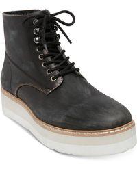 Steve Madden - Sayne Platform Leather Boots - Lyst