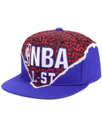 affordable price most popular more photos Mitchell & Ness Synthetic Nba Xl Logo Snapback Cap in White/Navy ...