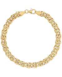 Macy's - Byzantine Link Bracelet In 14k Gold - Lyst