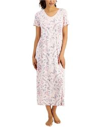 Charter Club Printed T-shirt Nightgown, Created For Macy's - Pink