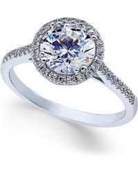 Arabella - Swarovski Zirconia Ring In 14k White Gold, Created For Macy's - Lyst