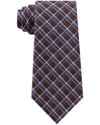 Michael Kors Artisinal Shadow Grid Tie - Brown