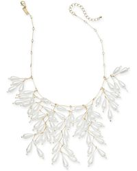 """INC International Concepts - I.n.c. Gold-tone Imitation Pearl Shaky Statement Necklace, 18"""" + 3"""" Extender, Created For Macy's - Lyst"""