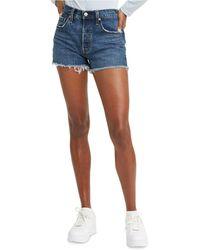 Levi's 501 Cotton High-rise Denim Shorts - Blue