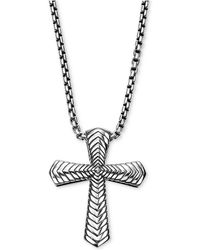 Scott Kay - Men's Textured Pendant Necklace In Sterling Silver - Lyst