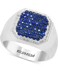 Effy Collection - Sapphire (1-1/5 Ct. T.w.) & Diamond (1/6 Ct. T.w.) Ring In Sterling Silver - Lyst