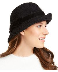 INC International Concepts Inc Packable Bow Cloche, Created For Macy's - Black