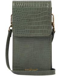 Urban Originals Crocodile Vegan Leather Phone Wallet - Green