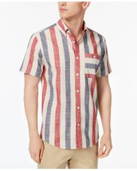 dc8beeff46c0 Lyst - Tommy Hilfiger Men s Abernathy Plaid Short-sleeve Shirt for Men