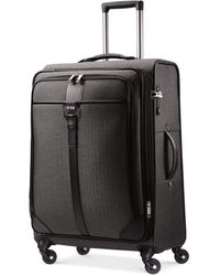 "Hartmann Herringbone Luxe 25"" Medium Journey Expandable Spinner Suitcase - Black"