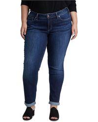 Silver Jeans Co. Plus Size Boyfriend Jeans - Blue