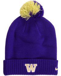 new arrival 60d38 3048d Nike Washington Huskies H86 Wordmark Swoosh Cap in Purple for Men - Lyst