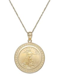 House of Alaia Power Eagle Travellers Coin Necklace Silver - 20 Inches 51p7L7CBu