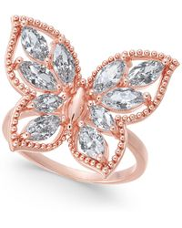 Charter Club Crystal Butterfly Ring, Created For Macy's - Metallic