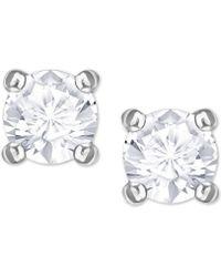 586d27e1c Swarovski The Fit Crystal Drop Earrings in Metallic - Lyst