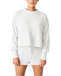 Cotton On Super Soft Long Sleeve Crew T-shirt - Grey