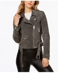 Marc New York - Suede Moto Jacket - Lyst