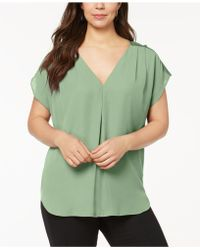 INC International Concepts - I.n.c. Plus Size Mixed-media Dolman-sleeve Top, Created For Macy's - Lyst