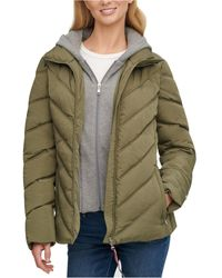 Tommy Hilfiger Hoodie Puffer Coat, Created For Macy's - Green