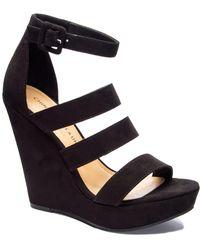 Chinese Laundry Maneeya Wedge Sandals - Black